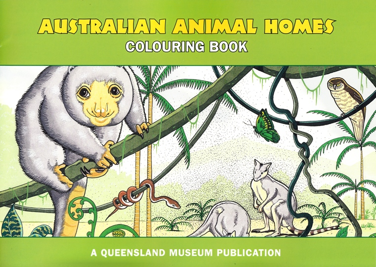 Image for Australian Animal Homes Colouring Book + Set of 12 Colour Felt Pens: A Queensland Museum Children's Book