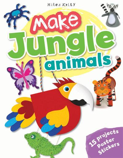 Image for Make Jungle Animals: 15 Projects - Poster - Stickers