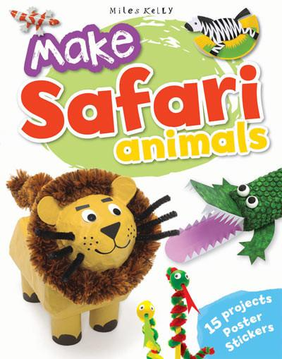 Image for Make Safari Animals: 15 Projects - Poster - Stickers