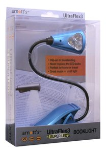 Image for UltraFlex3 Triple Super LED Booklight - Blue Colour (uses 3 AAA Batteries)