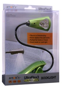 Image for UltraFlex3 Triple Super LED Booklight - Green Colour (uses 3 AAA Batteries) *** OUT OF STOCK ***