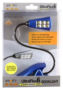 Image for UltraFlex6 Six Super LED Booklight - Blue Colour (uses 3 AAA Batteries included)