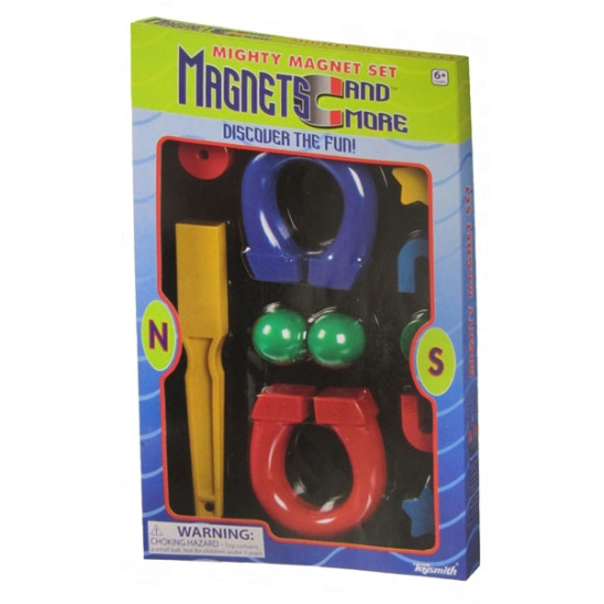 Image for 11 Large Piece Mighty Magnet Set: Magnets and More, discover the fun - 6+ years