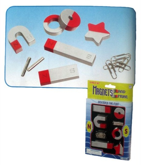 Image for 8 Piece Magnet Set: Magnets and More, discover the fun - 6+ years