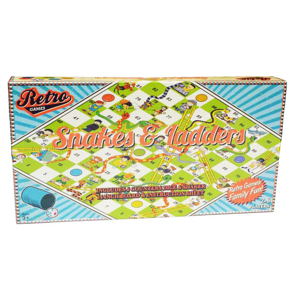 Image for Retro Games Snakes and Ladders Board Game