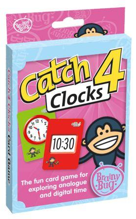Image for Brainy Bug Catch4 Clocks Card Game : The fun card game for exploring analogue and digital time