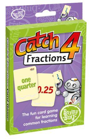 Image for Brainy Bug Catch4 Fractions Card Game : The fun card game for learning common fractions