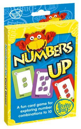 Image for Brainy Bug Numbers Up Card Game : The fun card game for exploring number combinations to 10