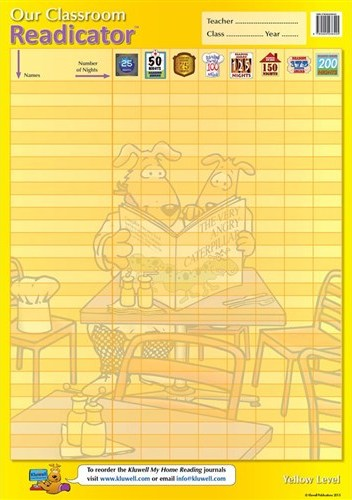 Image for Kluwell Classroom Readicator Yellow Level A2 Chart (Junior 4-7 years old)