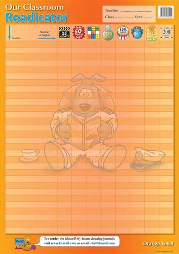 Image for Kluwell Classroom Readicator Orange Level A2 Chart (Senior 9-11 years old)
