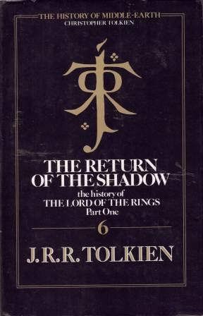 Image for The Return of the Shadow #1 The History of The Lord of the Rings [used book]