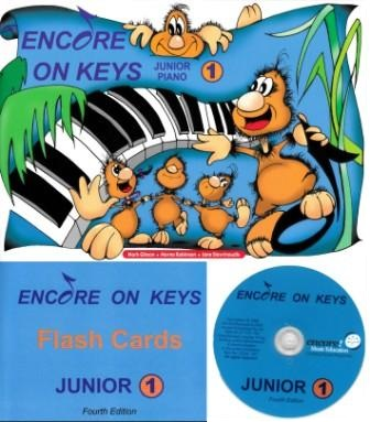 Image for Encore on Keys Junior Series 1 Piano/Keyboard - CD and Flash Cards Included