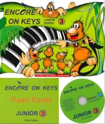 Image for Encore on Keys Junior Series 3 Piano/Keyboard - CD or Audio App and Flash Cards Included