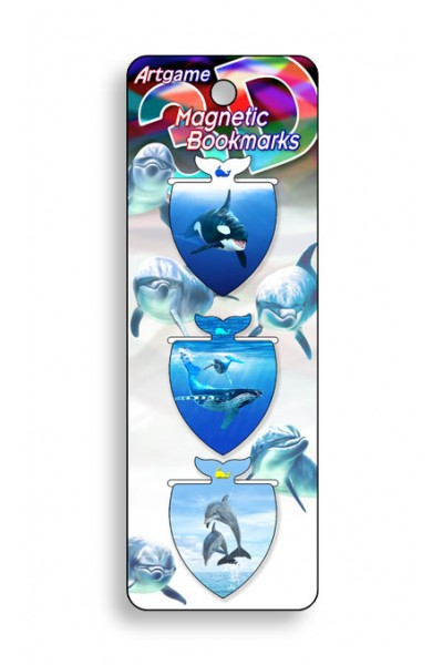 Image for Marine Life 3D Magnetic Bookmark 3 pack