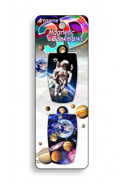 Image for Space Walk 3D Magnetic Bookmark 2 pack