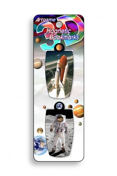 Image for Moon Walk 3D Magnetic Bookmark 2 pack