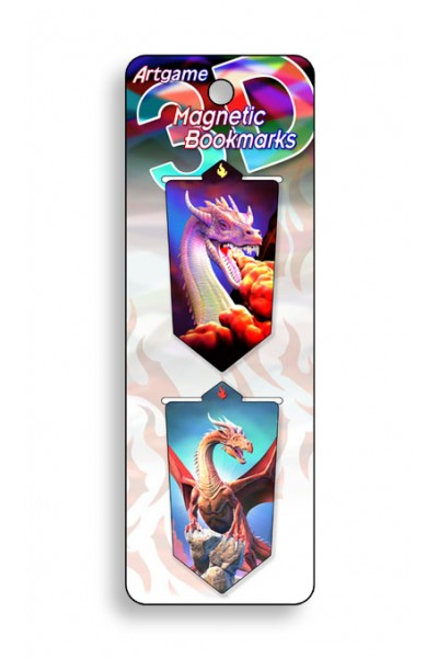 Image for Dragons 3D Magnetic Bookmark 2 pack