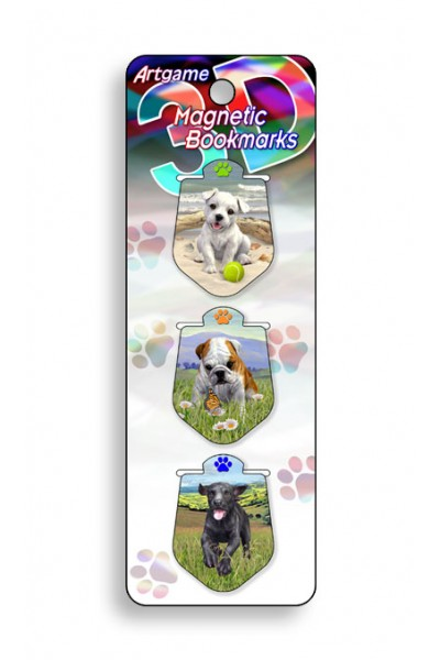 Image for Puppies 3D Magnetic Bookmark 3 pack