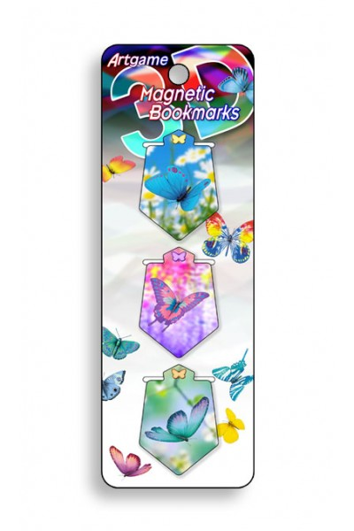Image for Butterfly Magic 3D Magnetic Bookmark 3 pack