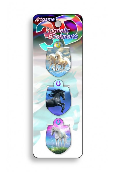 Image for Horses 3D Magnetic Bookmark 3 pack