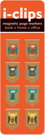 Image for Owls I-Clips Magnetic Page Markers 8 pack # Bookmark