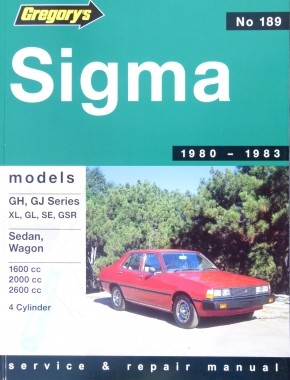 Image for Mitsubishi Sigma 1980-1983 Models GH, GJ Series XL, GL, SE, GSR Sedan, Wagon 1600cc 2000cc 2600cc 4 Cylinder #189 Service and Repair Manual [Used Book]