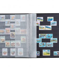 Image for Stamp Album A4 Basic Stockbook 64 Black Pages - Black Non-padded Cover