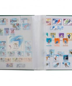 Image for Stamp Album: A5 Basic Stockbook 16 White Pages - Blue Non-padded Cover
