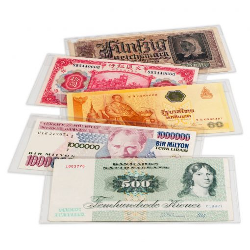 Image for Basic Banknote Sleeves 204 x 123mm (50 Pack)
