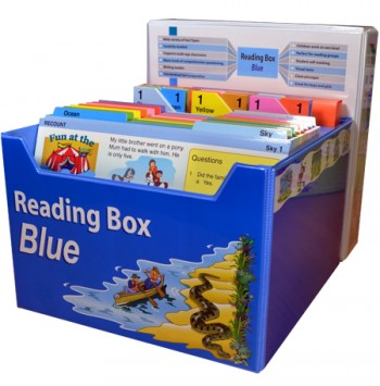 Image for Reading Box Blue : 150 full colour laminated cards spread over 15 levels 10 to 30+ [Years 2 to 4]