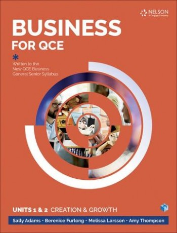 Image for Business for QCE: Units 1 & 2 : Creation and Growth Student Book with 4 Access Codes for 26 Months