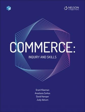 Image for Commerce : Inquiry and Skills Student Book with 1 Access Code