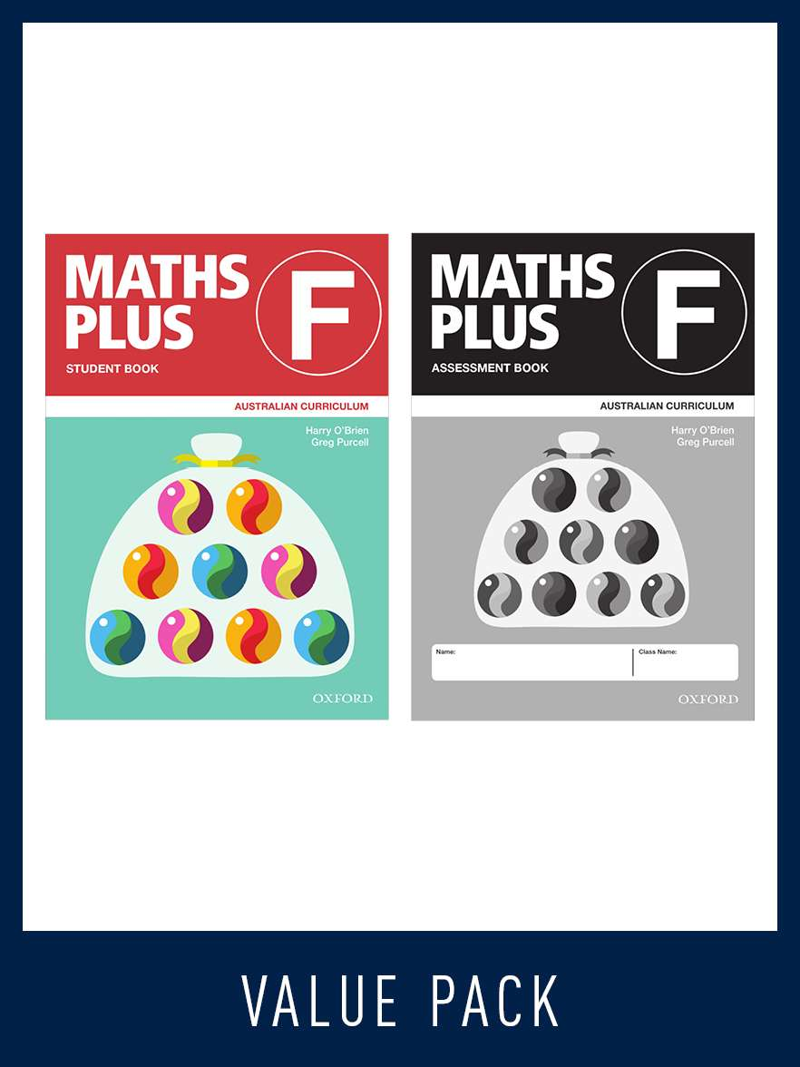 Image for Maths Plus Student Book F and Assessment Book F Value Pack : Foundation / Prep : Australian Curriculum [New for 2020]