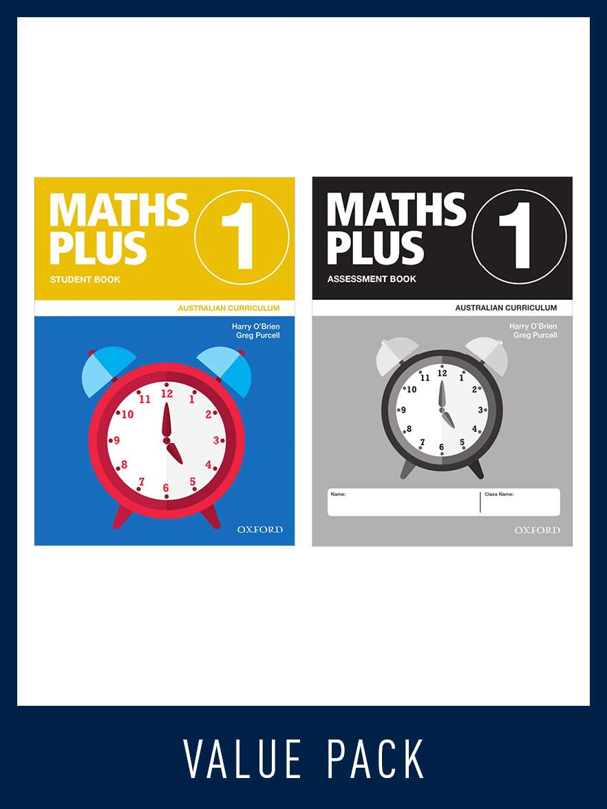 Image for Maths Plus Student Book 1 and Assessment Book 1 Value Pack : Australian Curriculum [New for 2020]