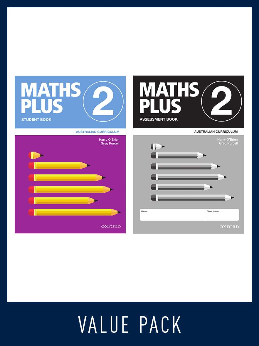Image for Maths Plus Student Book 2 and Assessment Book 2 Value Pack : Australian Curriculum [New for 2020]