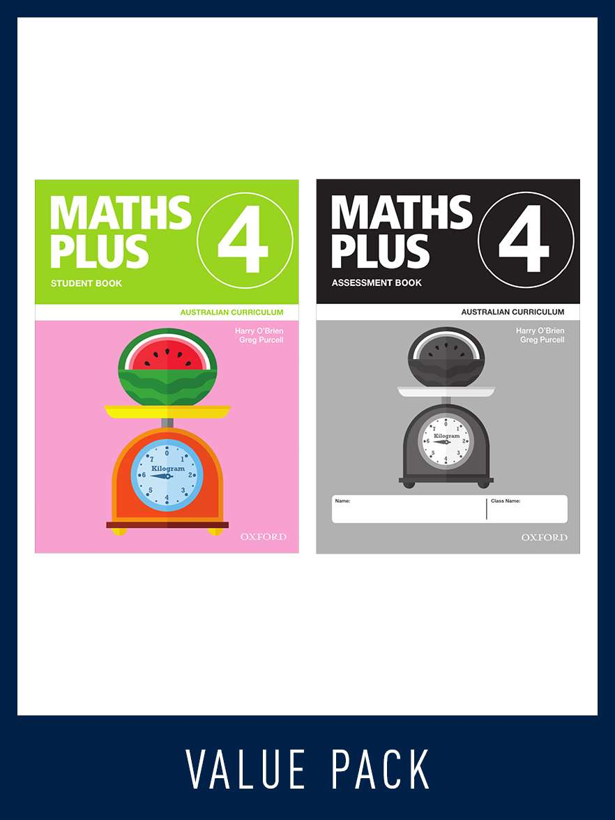 Image for Maths Plus Student Book 4 and Assessment Book 4 Value Pack : Australian Curriculum [New for 2020]