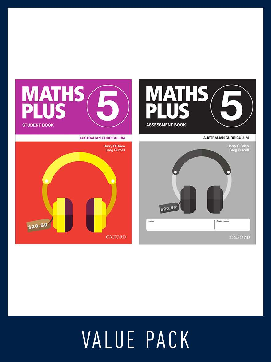 Image for Maths Plus Student Book 5 and Assessment Book 5 Value Pack : Australian Curriculum [New for 2020]