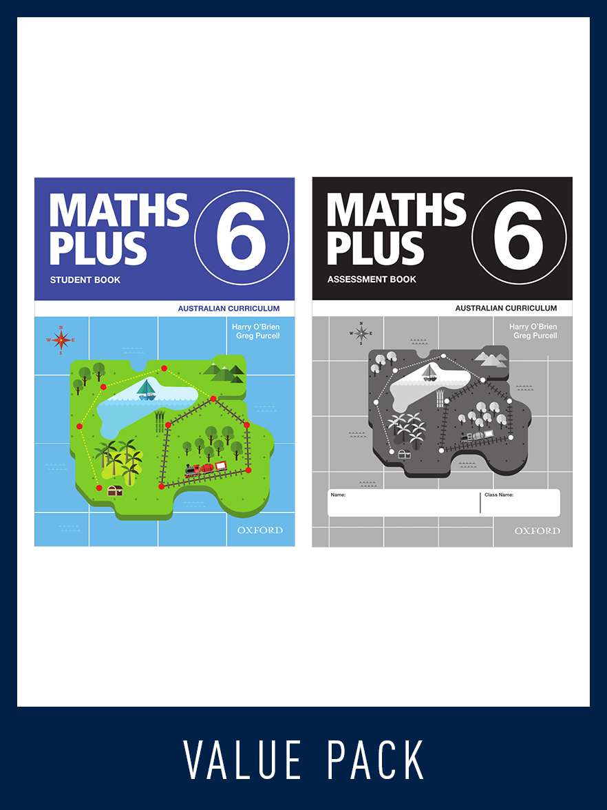 Image for Maths Plus Student Book 6 and Assessment Book 6 Value Pack : Australian Curriculum [New for 2020]