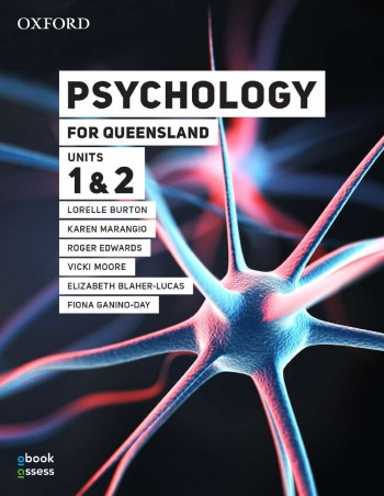 Image for Psychology for Queensland Units 1&2 Student book + obook assess