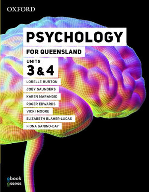 Image for Psychology for Queensland Units 3&4 Student book + obook assess