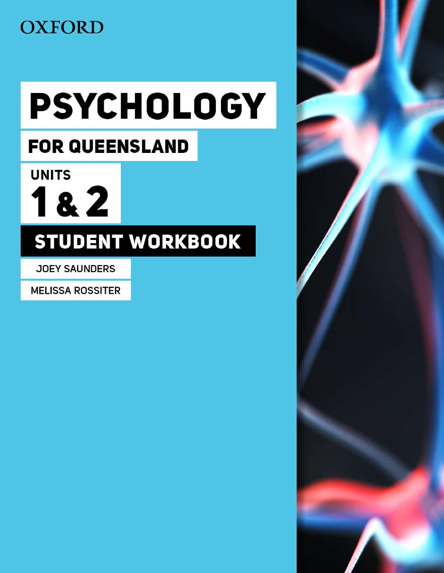 Image for Psychology for Queensland Units 1&2 Student Workbook  *** RELEASES 21/1/2020 ***