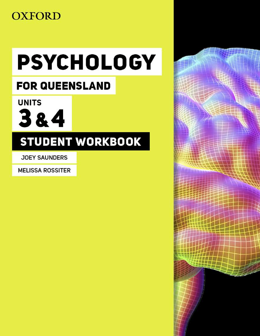 Image for Psychology for Queensland Units 3&4 Student Workbook
