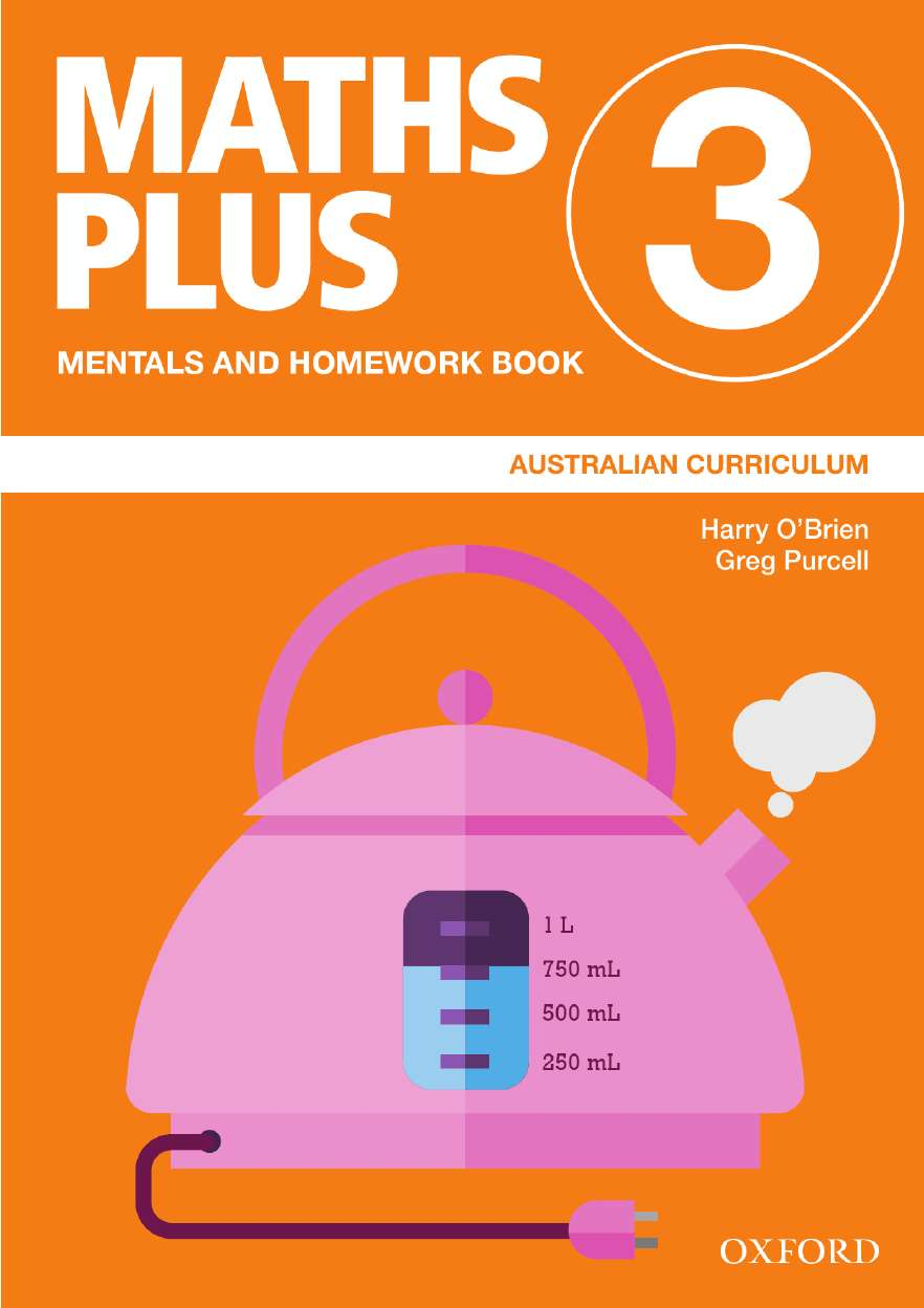 Image for Maths Plus Mentals and Homework Book 3 : Australian Curriculum [New for 2020]