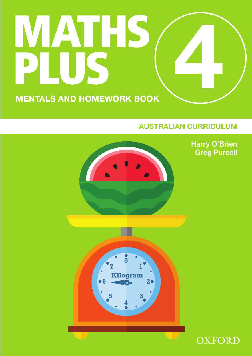 Image for Maths Plus Mentals and Homework Book 4 : Australian Curriculum [New for 2020]