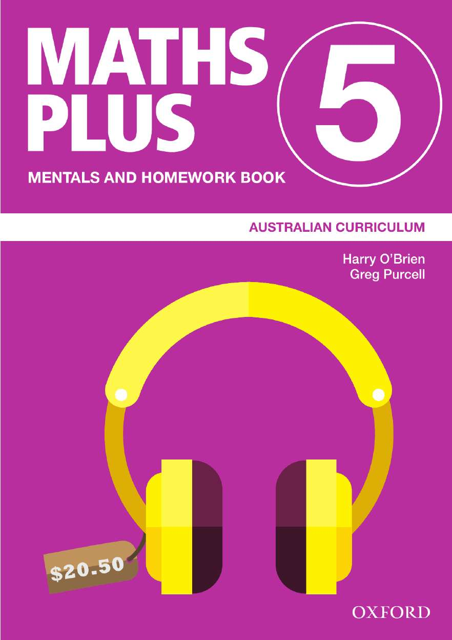 Image for Maths Plus Mentals and Homework Book 5 : Australian Curriculum [New for 2020]