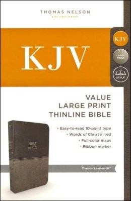 Image for KJV Value Thinline Bible, Large Print, Red Letter Edition [Charcoal]