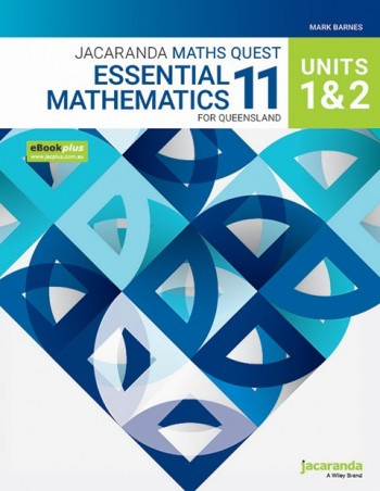 Image for Jacaranda Maths Quest 11 Essential Mathematics Units 1&2 for Queensland eBookPLUS and Print