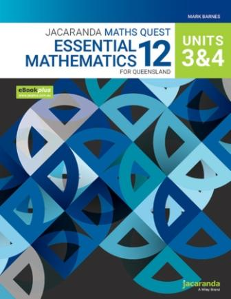 Image for Jacaranda Maths Quest 12 Essential Mathematics Units 3&4 for Queensland eBookPLUS and Print