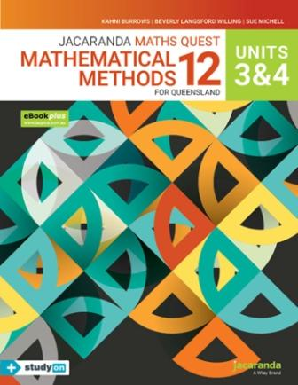 Image for Jacaranda Maths Quest 12 Mathematical Methods Units 3&4 for Queensland eBookPLUS & Print + StudyON Mathematical Methods Units 3&4 for QLD (Book Code)