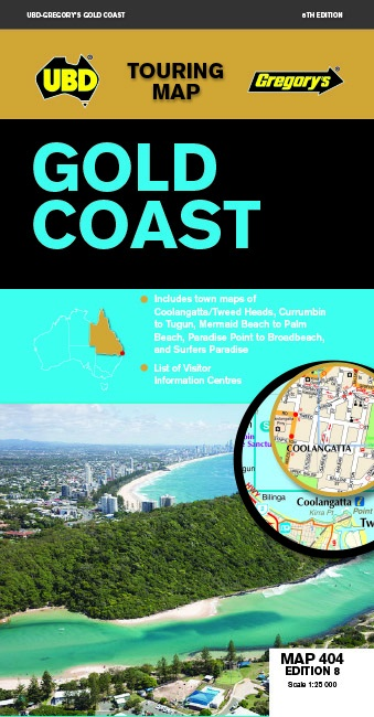 Image for Gold Coast : Touring Map 404 Edition 8